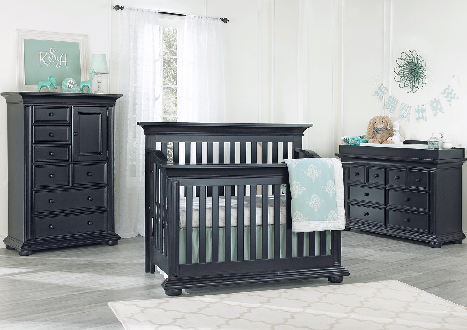 Harlow Navy Midnight Slate Collection Set Oxford Baby