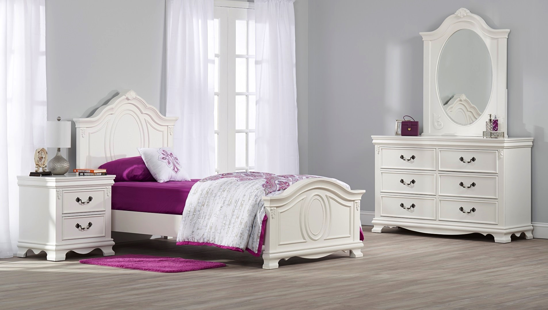 Gentil Isabelle Twin Bed   White