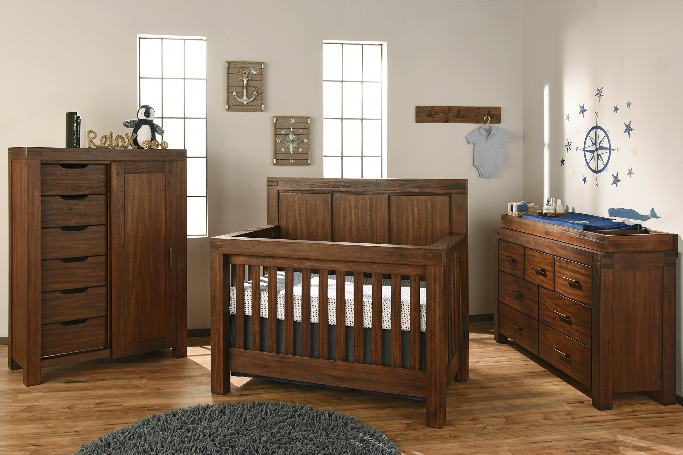rustic crib furniture. Piermont - Rustic Farmhouse Brown Crib Furniture