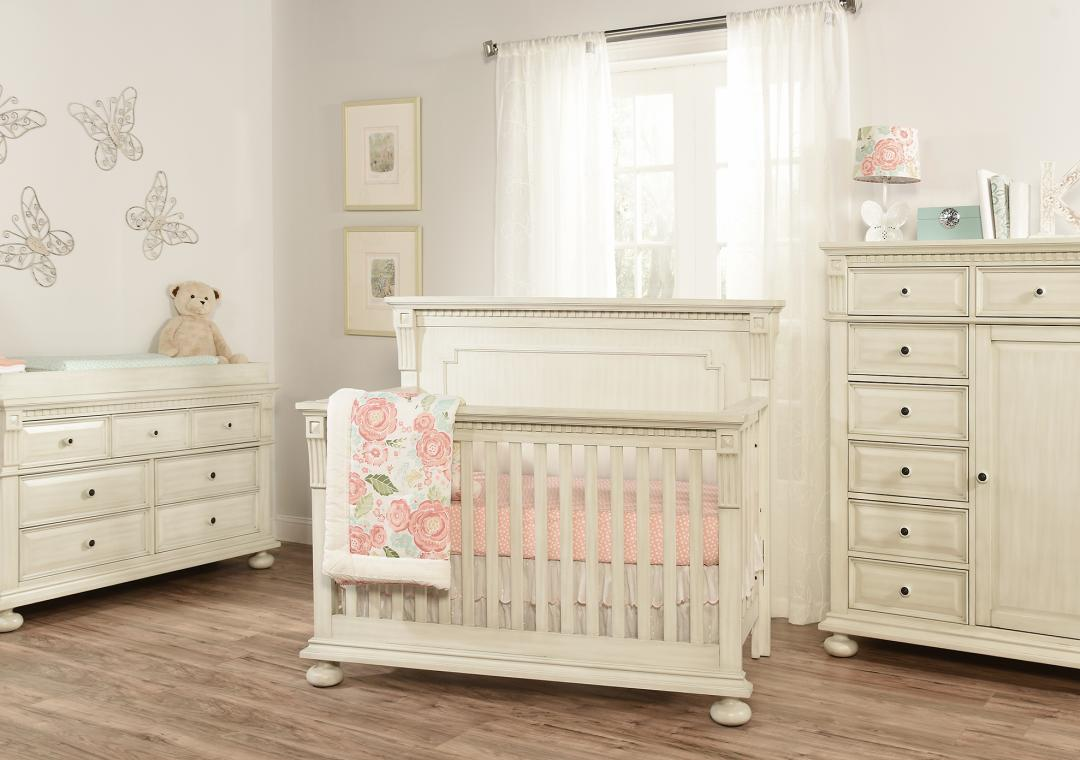 Mid Century Claremont - Antique White - Nursery Furniture Collection Sets Oxford Baby & Kids