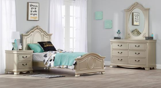 Isabelle Twin Bed - Champagne