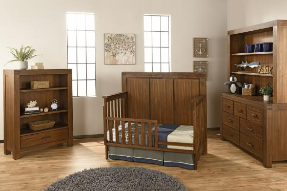 Piermount brown room toddler bed