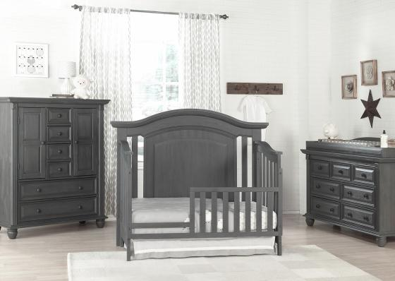 london lane arctic gray toddler bed