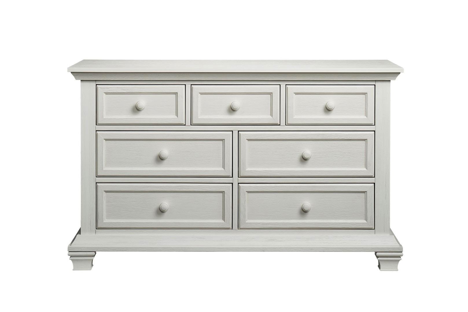 One Guard Warranty >> 7 Drawer Dresser - Cottage Cove Vintage White | Oxford Baby & Kids