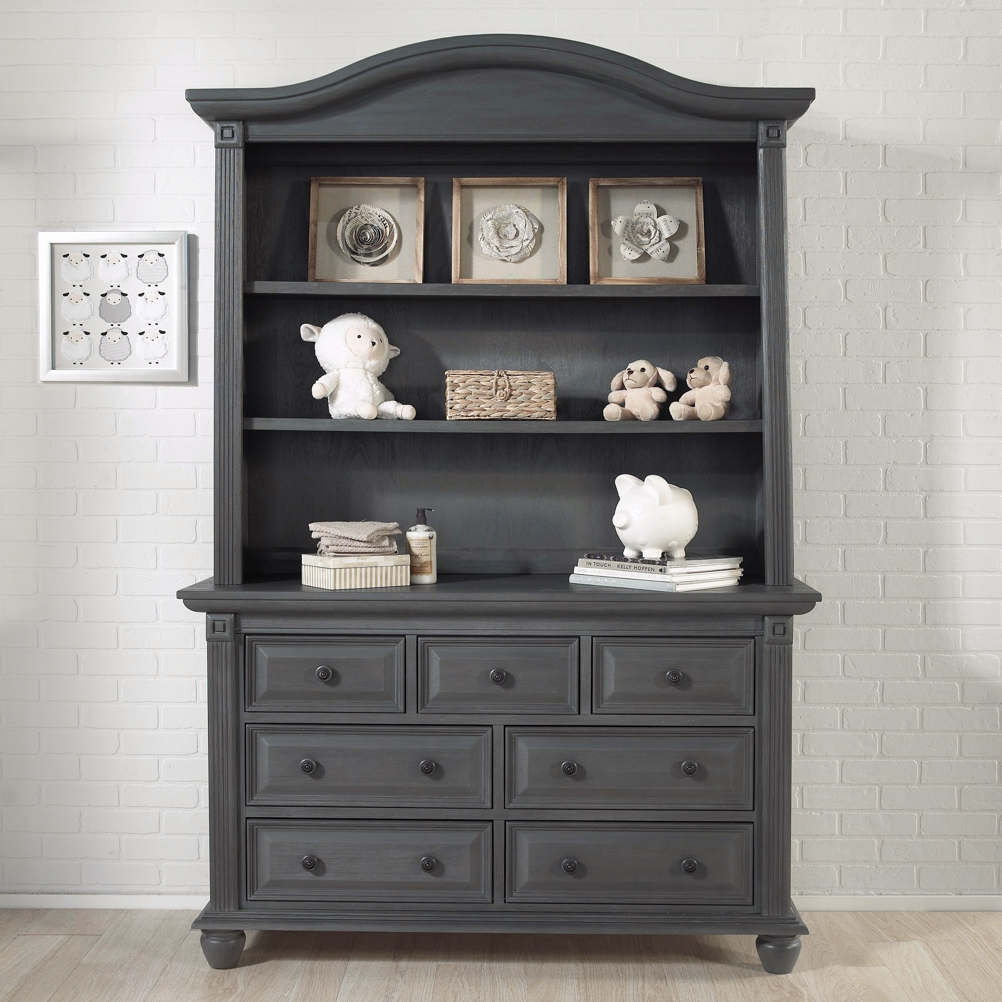 and wood maple grey dresser vintage rustic white gray