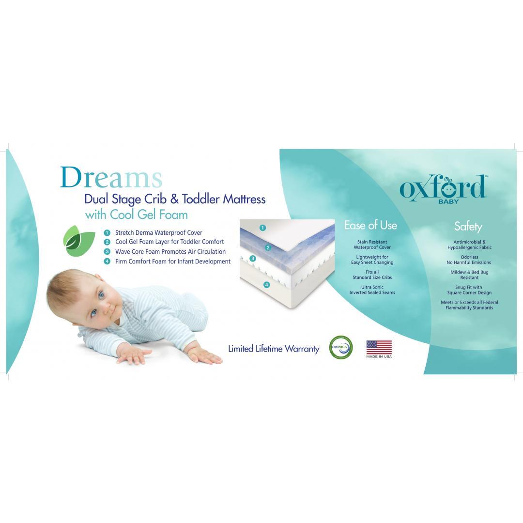 standard crib mattress size dream on me 4 inch fullsize foam standard crib and toddler mattress