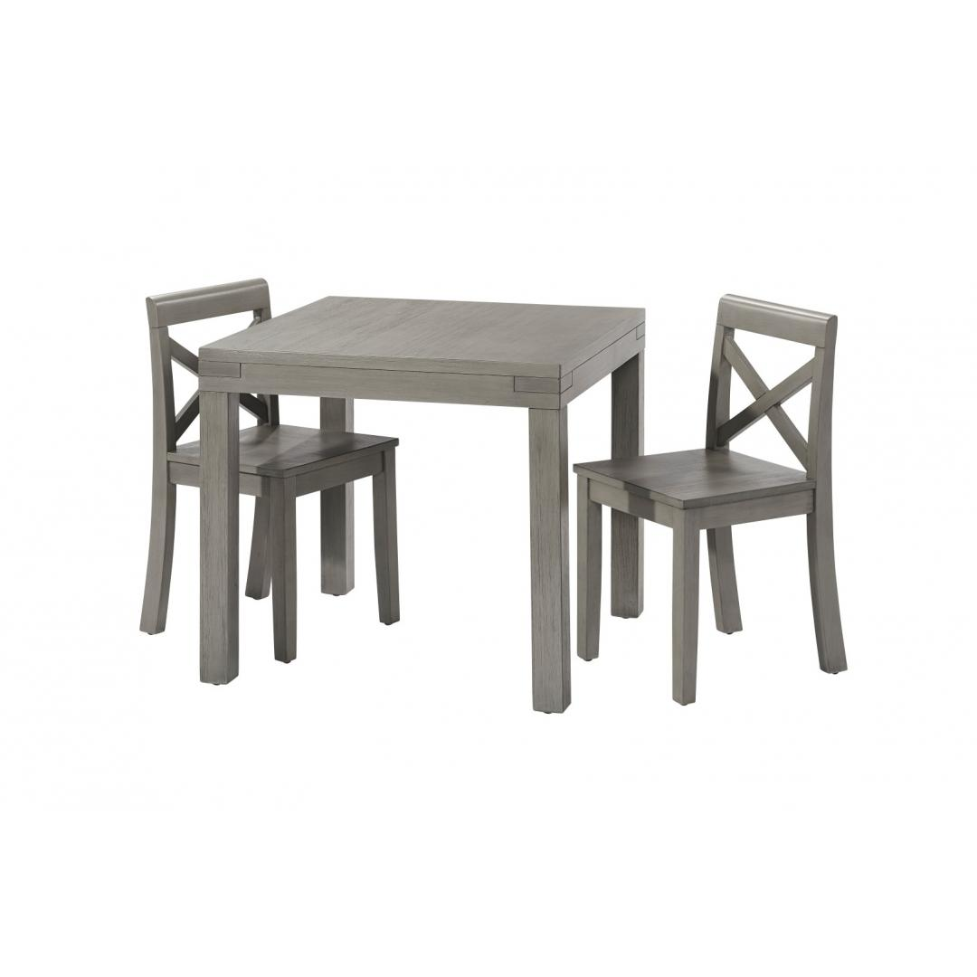 2 Chair Set Rustic Gray