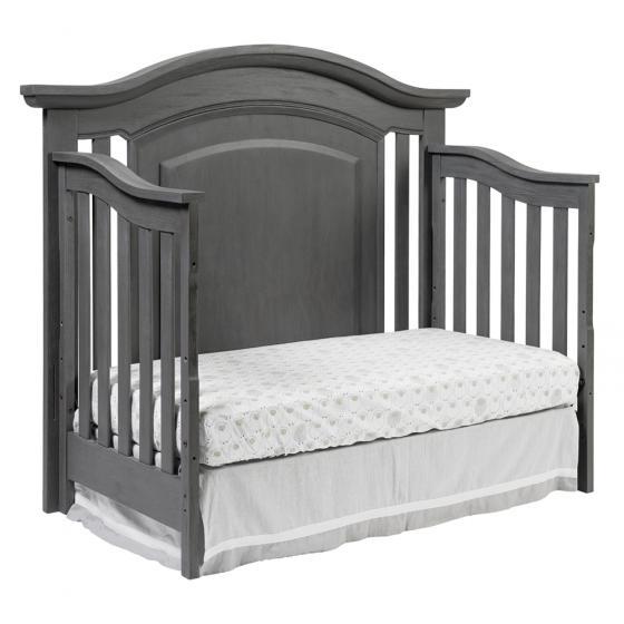 4 In 1 Convertible Crib London Lane Arctic Gray Oxford