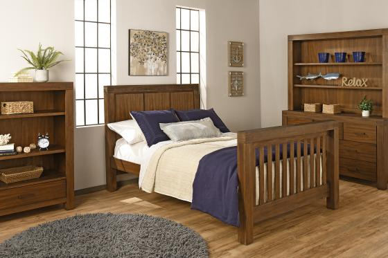 Full Bed Conversion Kit Piermont Rustic Farmhouse Brown