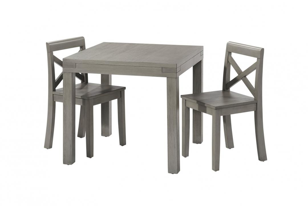 Table set with 2 chairs rustic gray oxford baby kids for Grey childrens chair