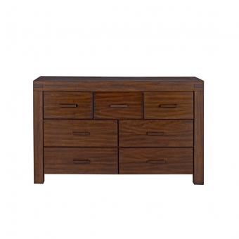 7 Drawer Dresser Piermont Rustic Farmhouse Brown