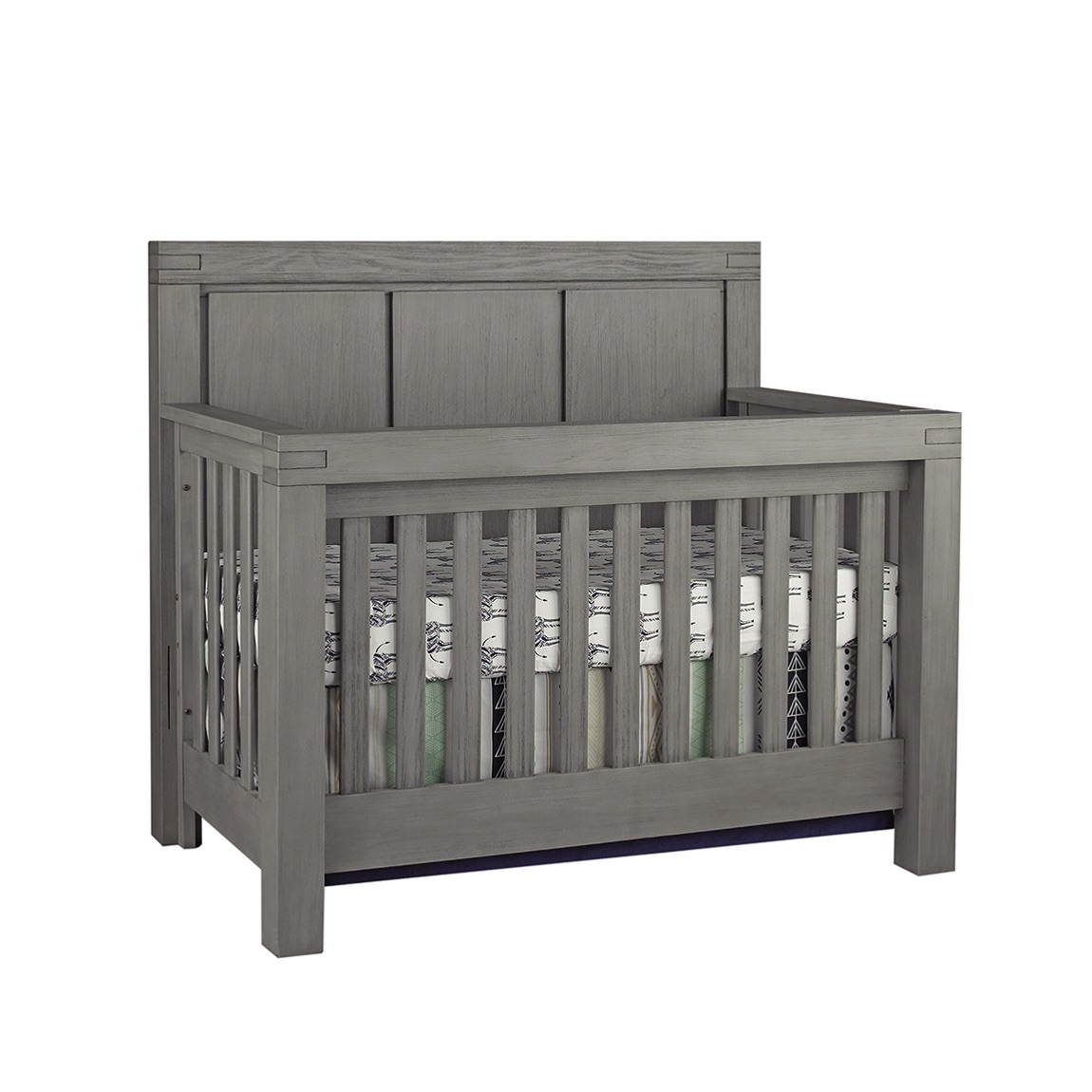 4 In 1 Convertible Crib Piermont Rustic Stonington Gray