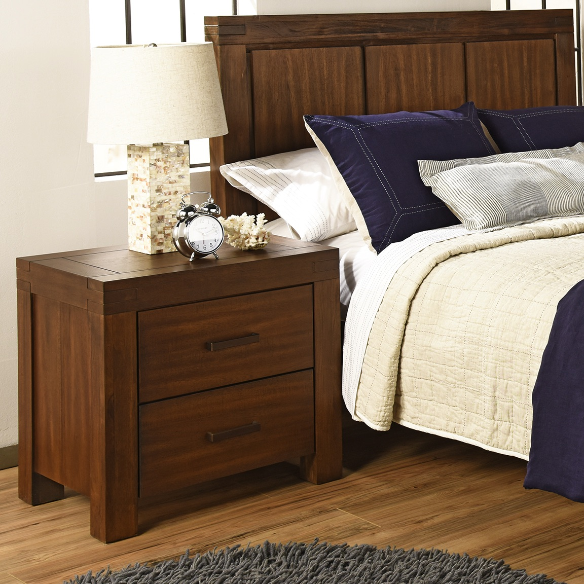 Pier One Baby Furniture: Night Stand - Piermont Rustic Farmhouse Brown