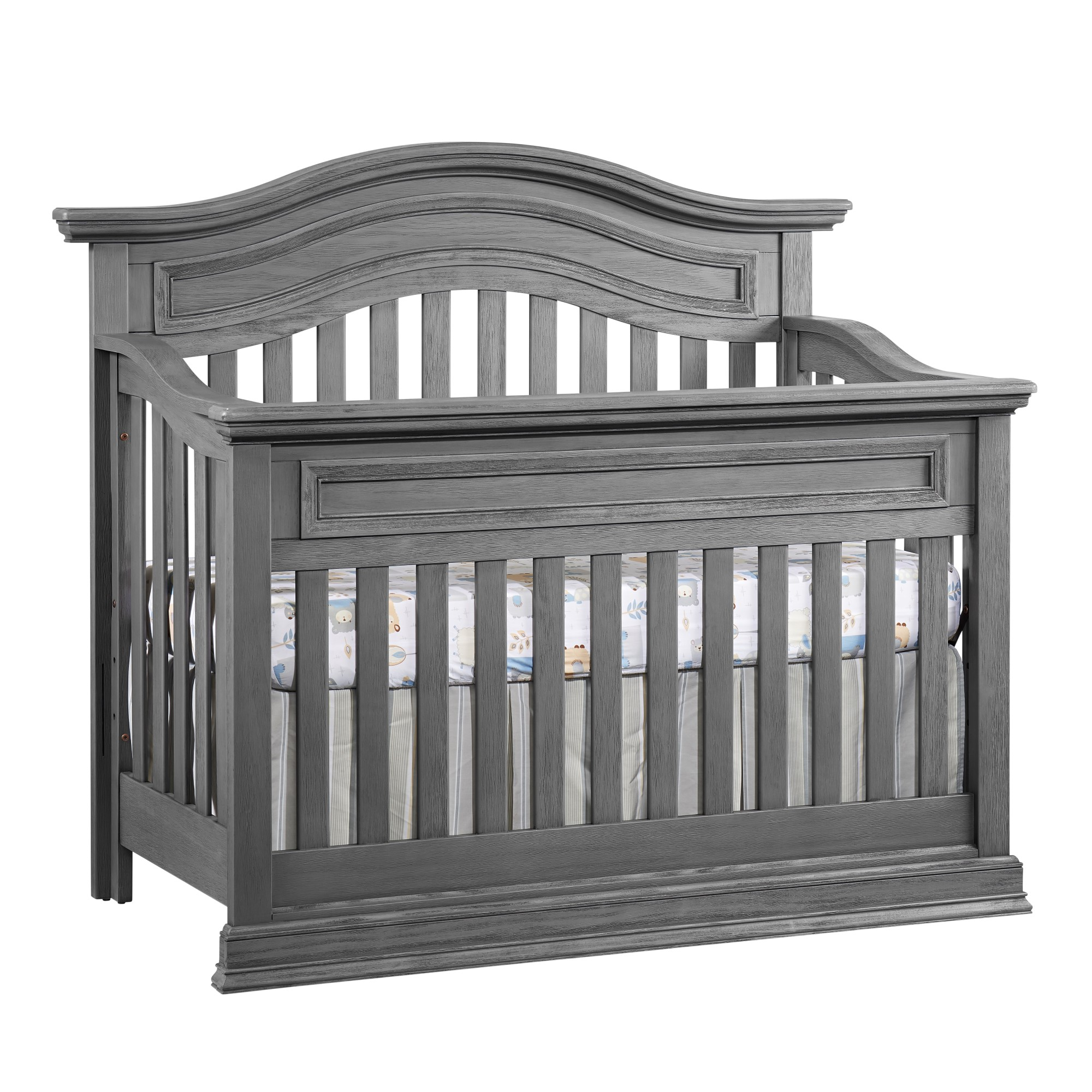 4 in 1 convertible crib piermont rustic stonington gray oxford baby kids. Black Bedroom Furniture Sets. Home Design Ideas
