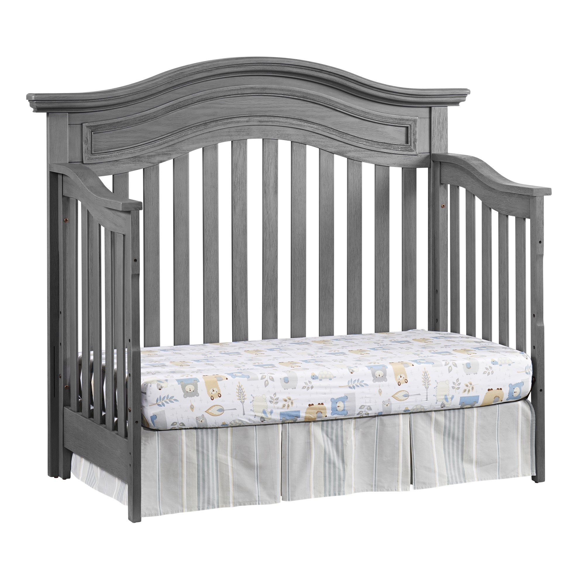 4 In 1 Convertible Crib Glenbrook Graphite Gray Oxford