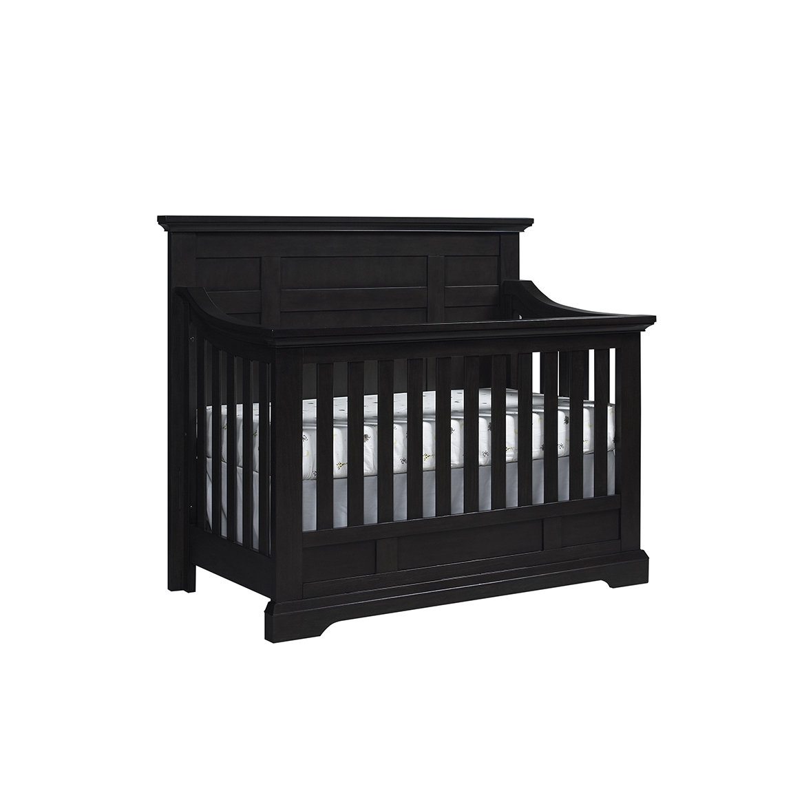 kids bed side view. Dallas 4in1 Crib Slate Sideview Kids Bed Side View Y