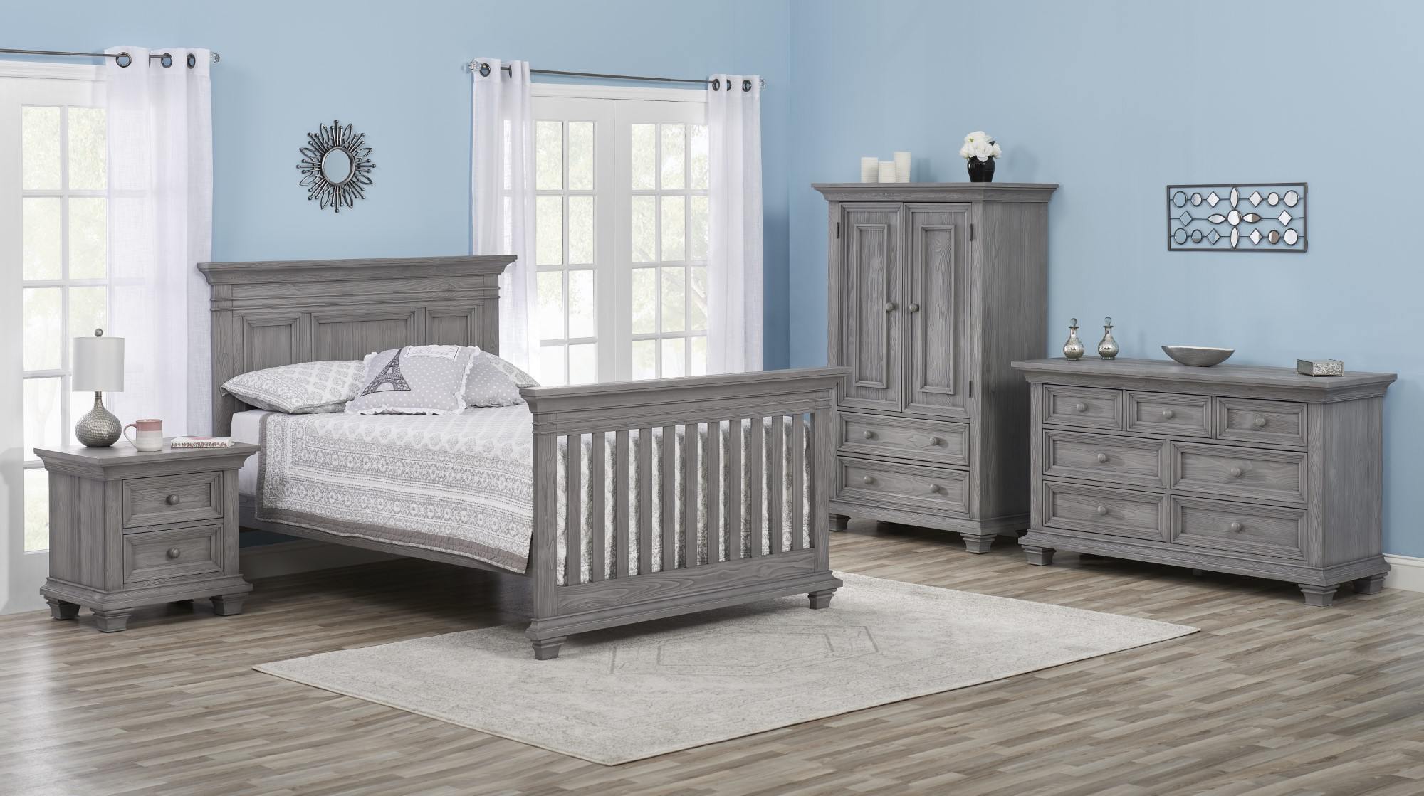 Full Bed Conversion Kit Westport Dusk Gray Oxford Baby