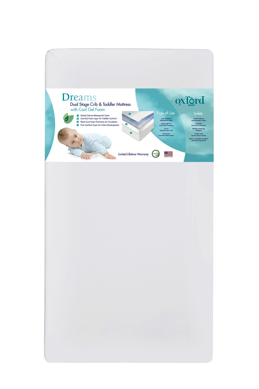 Dreams Dual Stage Crib Amp Toddler Mattress Oxford Baby