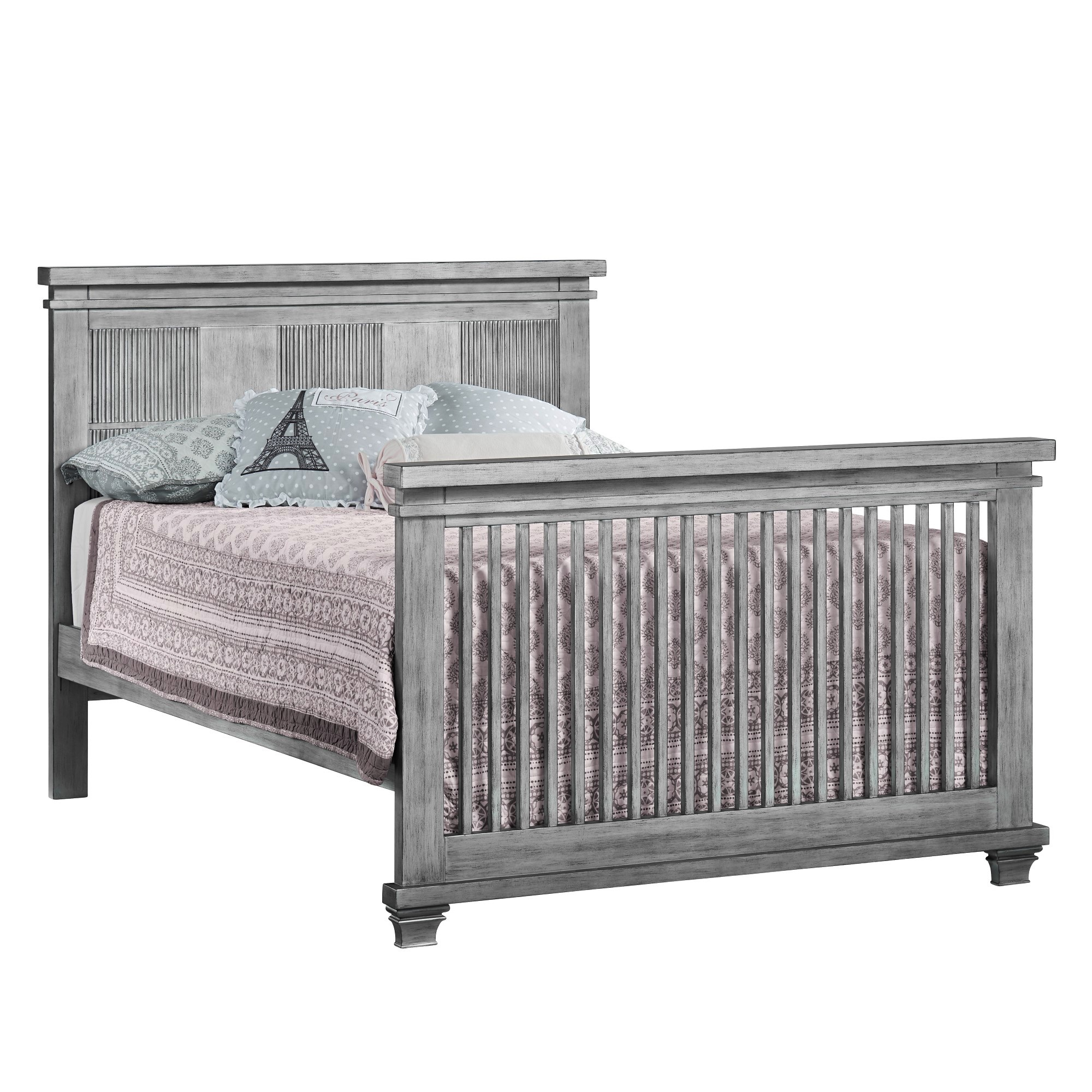 Full Bed Conversion Kit Piermont Rustic Stonington Gray