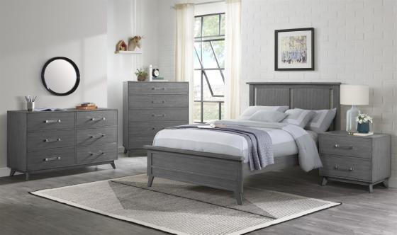 Holland Gray Full Bed RS 1